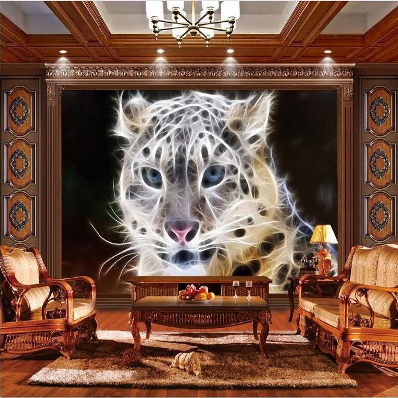 Papel de pared 3d de parede papel de pared ambiental sin tejer de leopardo a rayas dinámicas grandes personalizados de well Yu