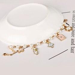 Dongsheng atacado alice país das maravilhas charme pulseiras bangles conto de fadas história coelho chapéu chave relógio pulseira presente-25
