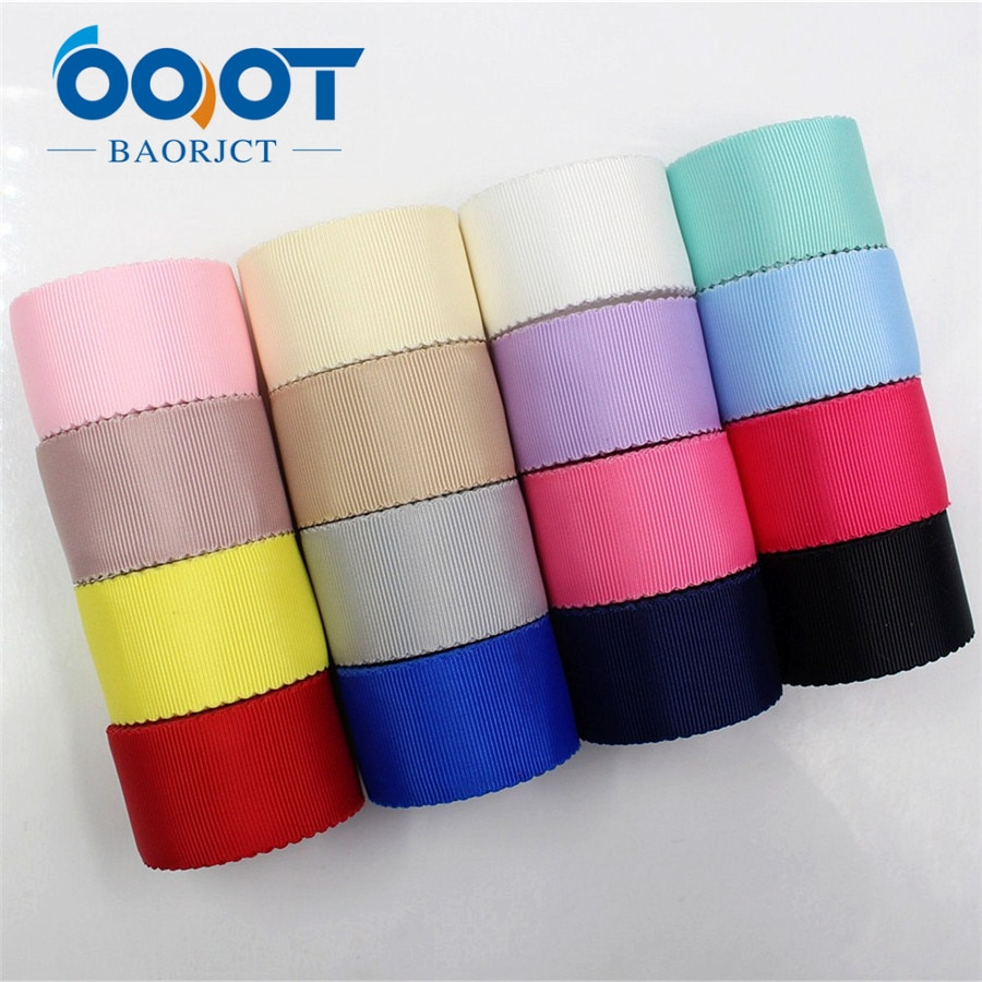 OOOT BAORJCT 1712121 10 yards hot sale 30mm hollow Flowers solid Grosgrain Ribbon, DIY handmade materials,Clothing accessories