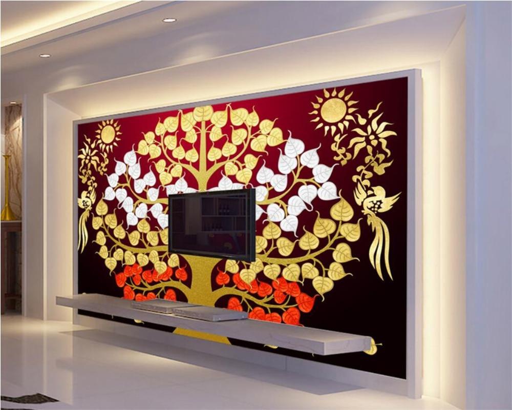 Beibehang rica árvore Abstrata pintura a óleo papel de parede infantil fundo papel de parede papel de parede para paredes 3 d papier peint mural 3d