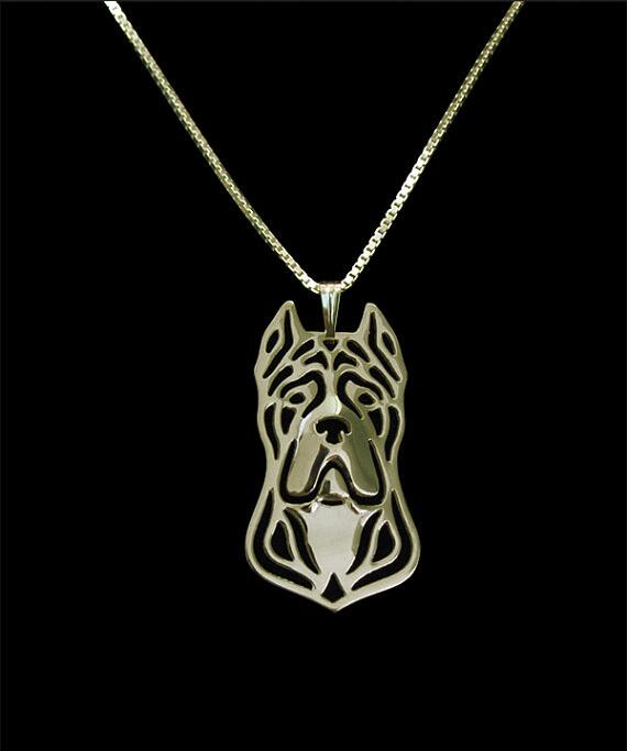 DANGGAO última moda única hecho a mano caña Corso collar mujeres cadena gargantilla collar perro encanto joyería amantes de mascotas Idea de regalo
