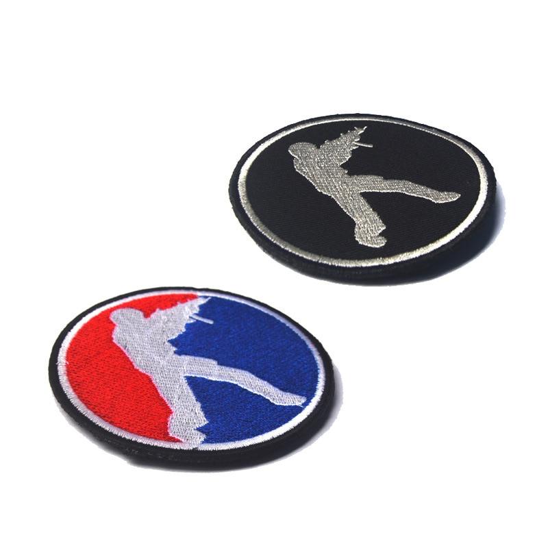 ¡Oferta! parches de bordado de espíritu táctico del ejército militar CS para ropa, insignias con emblema