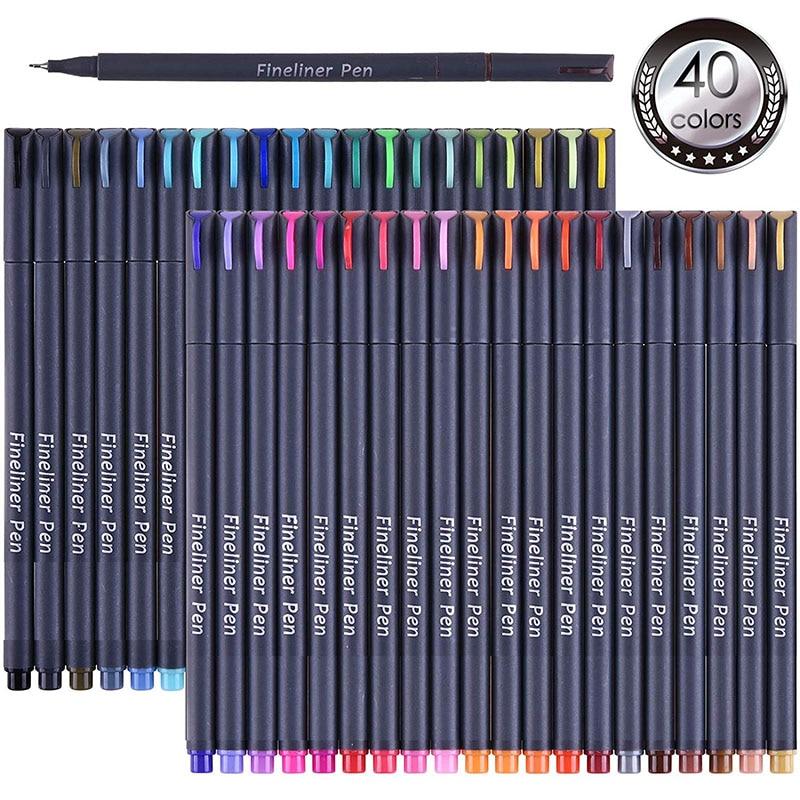Delineador de color punta de fieltro pintura pluma arte marcador 0,4mm suministros de dibujo artículos de escritorio de animé colores profesionales bocetos marcadores y plumas