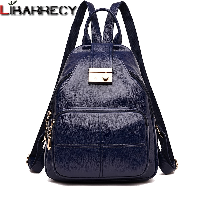 Famous Brand Leather Backpack Female Fashion Antitheft Women Backpack Large Capacity Bookbag Designer Shoulder Bags Travel Bag