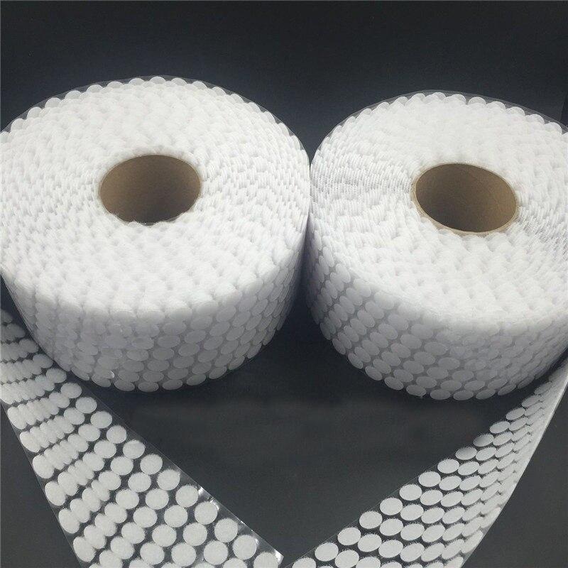 500 пар белых и черных нейлоновых крючков и петель, Клейкие самоклеящиеся наклейки с круглыми точками, с помощью крепежа для занавесок