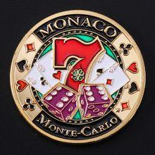 Casino Monaco, puces commémoratives de porte-bonheur, Collection artistique en plaqué or