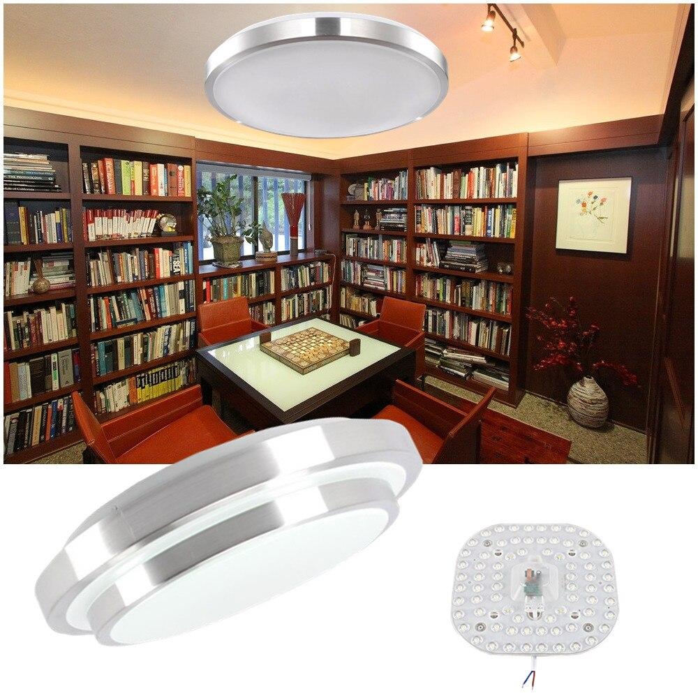 Lámparas de iluminación para led de techo, lámpara moderna para dormitorio y sala de estar, montaje en superficie de balcón, 18w, 24w, 30w, 36w, 40w, 48w, AC, 220V, techo