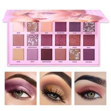 2019 nueva Paleta De Sombra De ojos 18 colores Sombra De ojos brillo mate polvo impermeable Paleta De maquillaje