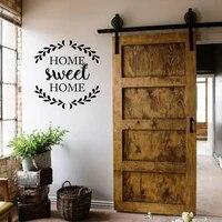 Autocollant de citation douce pour la maison  decoration murale rustique en vinyle  Design creatif  pour porte de maison familiale