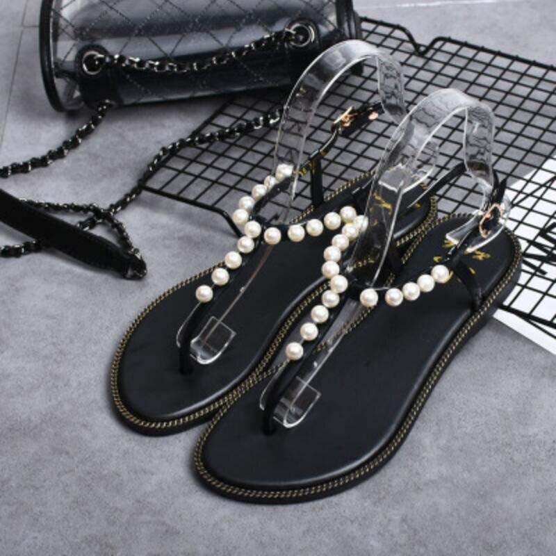 2019 High Quality Summer Women's Sandals Fashion Sandals Summer Women's Flat Sandals Roman Wind Light Comfortable Ladies Sandals