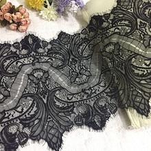 Bordure de tissu en dentelle 3 mètres diy   Accessoires de broderie sans élastique, garniture en dentelle noire blanche pour lartisanat, décoration de couture