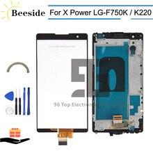 AA + LCD de calidad con marco para LG X Power LG-F750K F750K K220 K220DS LS755 LCD pantalla táctil digitalizador la Asamblea reemplazar