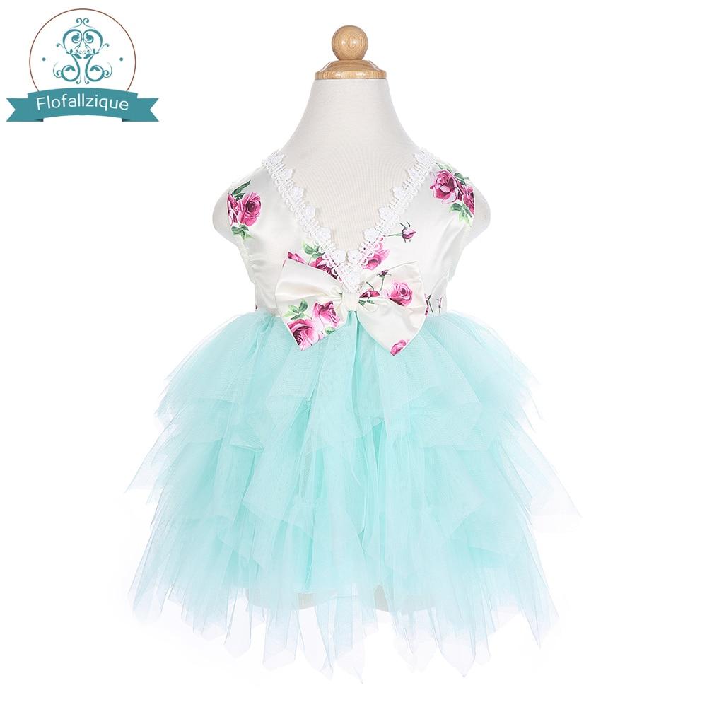 Vestido tutú de princesa Floral rosa sin espalda para niñas pequeñas, vestidos de tul para fiestas de boda, ocasiones especiales, Ropa para Niñas