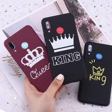 Voor Xiaomi Mi Redmi Note 5 6 7 8 9 10 Lite Pro Plus Koning En Koningin Kronen Candy Silicone telefoon Case Cover Capa Fundas