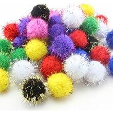 CCINEE 10/15/20/25mm Glitter Polypropyleen Mini Pluizige Zachte Pom Poms Pompoms Bal Handgemaakte Kids speelgoed DIY Craft Supplies