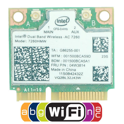 Двухдиапазонная карта 7260HMW 867M WiFi + BT 4,0 Wlan Intel 7260 AC для Lenovo Thinkpad S440 S540 E440 E540 K4350 K4250 B5400 M5400