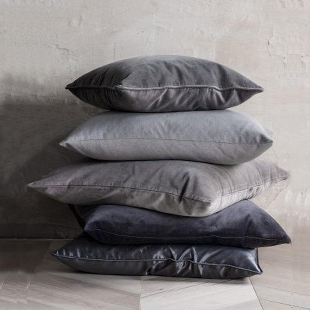 Essie casa de luxo preto cinza branco prata veludo capa de almofada caso travesseiro madeira