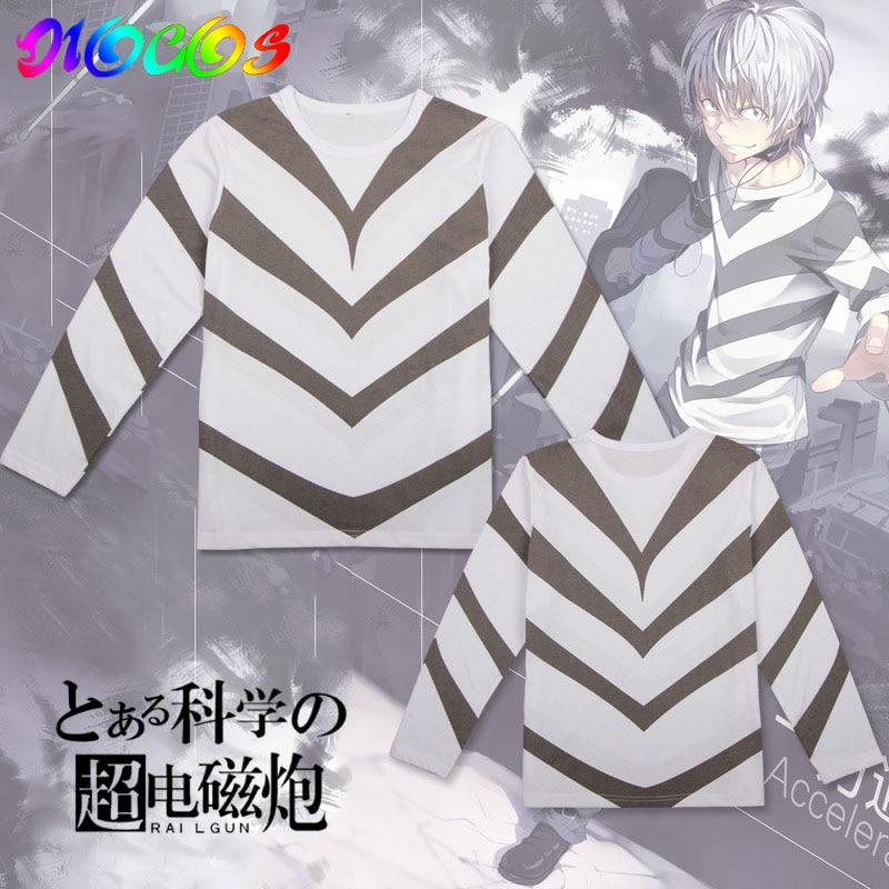 DIOSCOS Toaru Majutsu No Index Accelerator Cosplay T shirt Costumes Men Women Summer Tees Tops