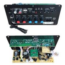 AC 220 V 12 v 24 v Digitale Bluetooth Stereo Versterker Boord Subwoofer Dual Microfoon Karaoke Versterkers Met Afstandsbediening
