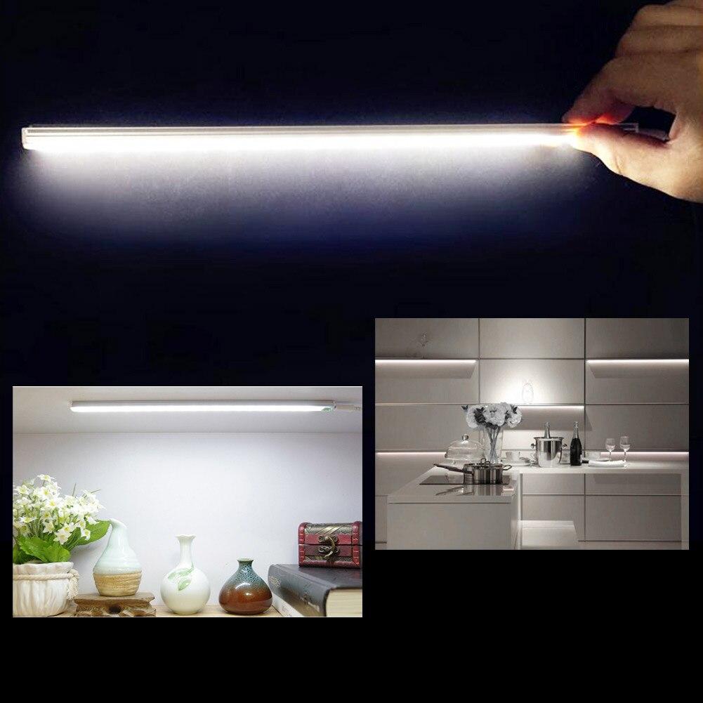 21LED 6W USB Luz sensor táctil LED barra lámpara ultrafina armario lámpara noche luz lectura trabajo escritorio lámpara de cocina luz