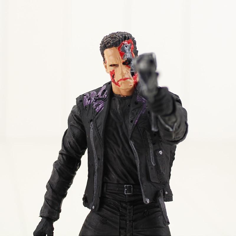 18cm The Terminator T-800 Action Figure Arnold Schwarzenegger Commando With Gun Weapon Model Toy