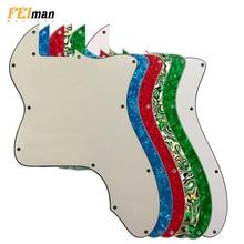 Pleroo guitare pièces blanc pickguard pour Fender classique 72 thinline Telecaster tele guitare Pickguard Scratch plaque pour bricolage