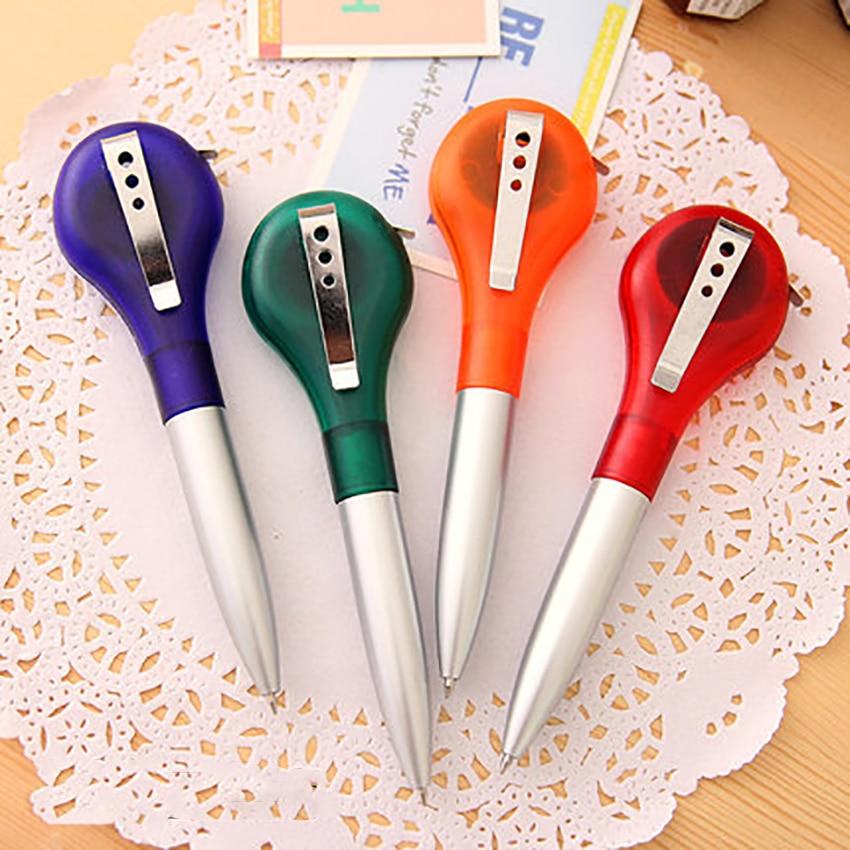 1 шт. Творческий шариковая ручка с 1 м телескопическая рулетка, 0,5 мм пополнения чернил, синие чернила, шариковая ручка для школы канцелярские...