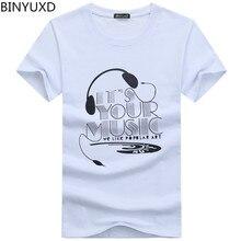 BINYUXD Discount new fashion summer t shirt men o-neck cotton comfortable t-shirt Casual tshirt homme Short sleeve Printing