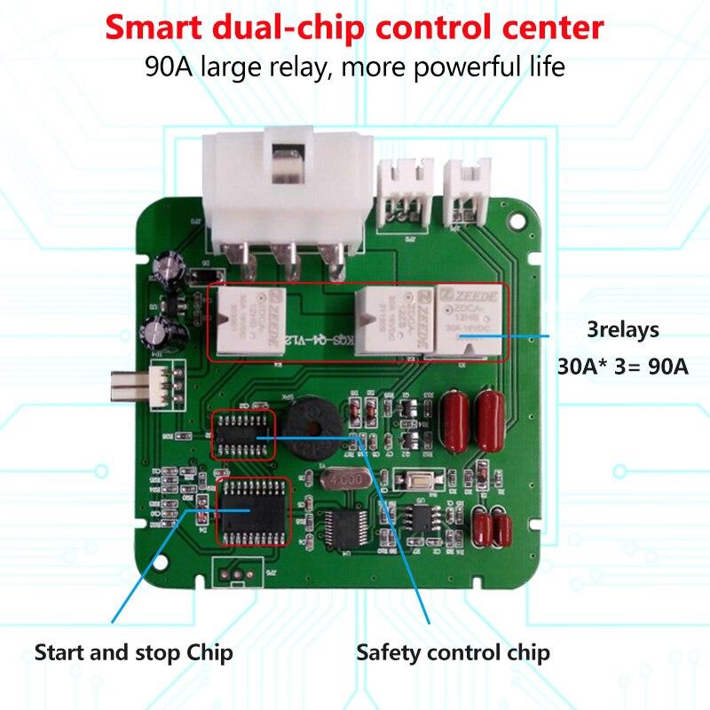 12V Auto Car Alarm One Start Stop Button Engine Start Push RFID Lock Ignition Switch Keyless Entry Anti-theft System RU In Stock