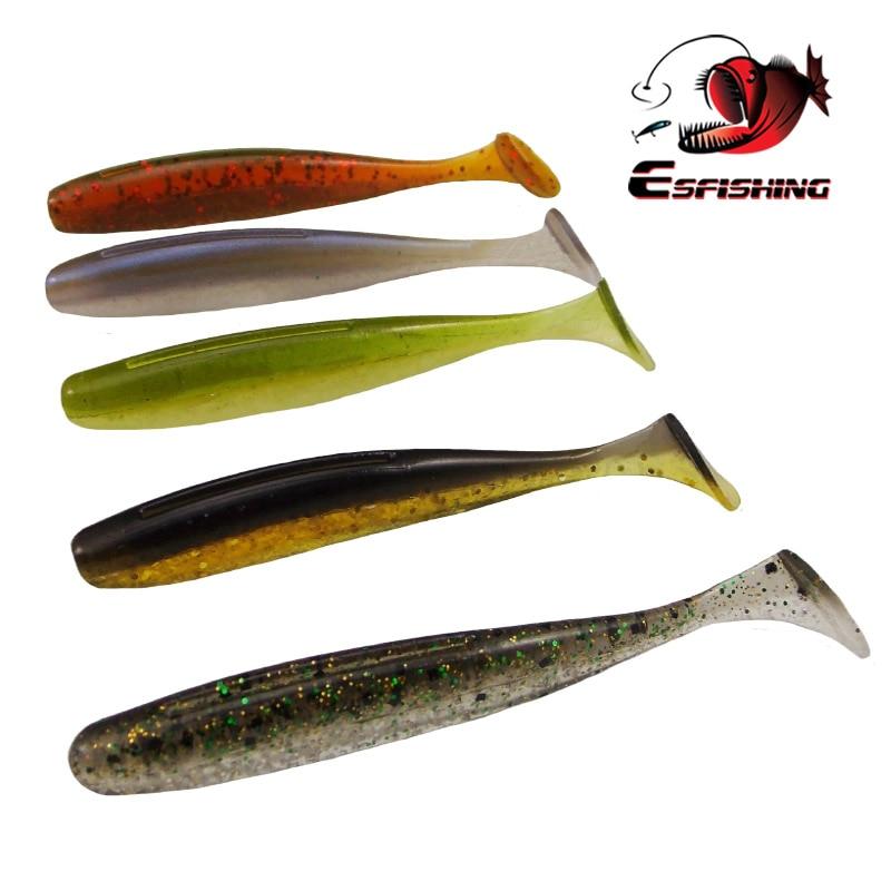 "200pcs New Fishing Lure Soft Esfishing Es 3"" 7.6cm/2.6g Winter Fishing Plastic Silicone Baits Pesca Isca Tackle"