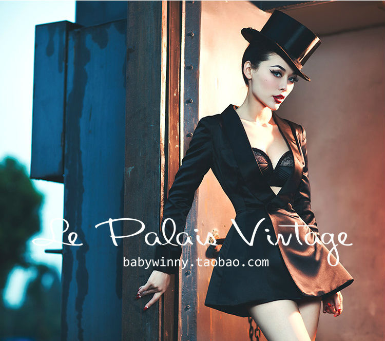 Le Palais-تنورة من الحرير ، بدلة ، جاكيت ، بدلة تدخين ، عتيق ، أنيق ، كلاسيكي ، عرض