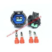 5 Sets 2 Pin Auto Fog Light Socket PB295-02020 Female Male Automotive Connector For Nissan Tenna