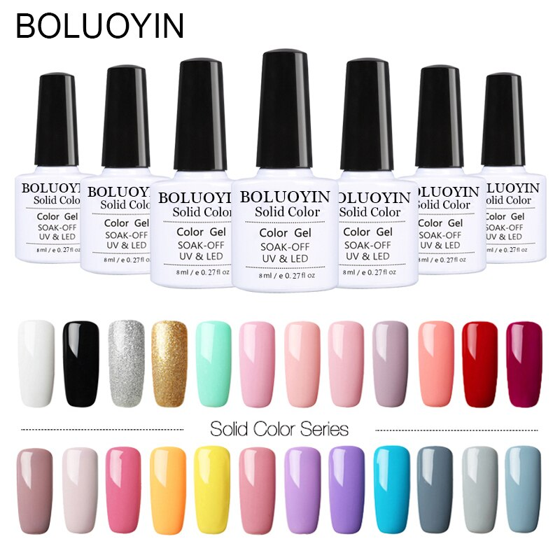 1pcs 8ML Pink Nude Soak Off UV Gel Polish Purple Black White Nail Gel Long Lasting Pure Color Gel Nail Varnish Manicure Varnish недорого