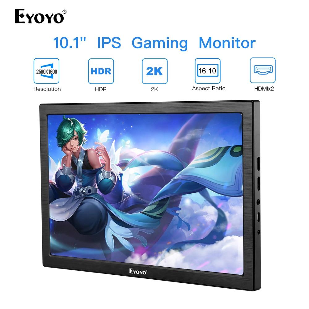 "Nuevo 10 ""pulgadas 2K portátil Monitor de ordenador PC HDMI PS3 PS4 Xbo x360 2560x1600 IPS LCD pantalla LED Monitor para Raspberry Pi"