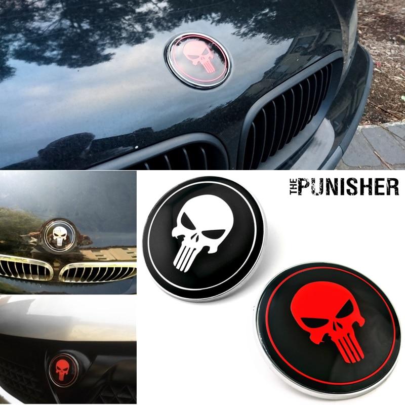 Castigador en forma de calavera para coche emblema insignia adorno para bmw 82mm X6 M3 sedán E39 E46 E36 E90 reemplazar OEM 51148132375