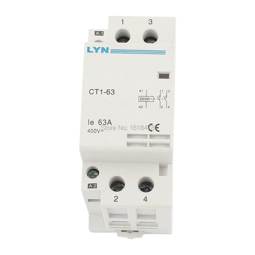 CT1-63/2P hogar 2-fase Contactor Polo CA bobina 220/240V, es decir, 63A
