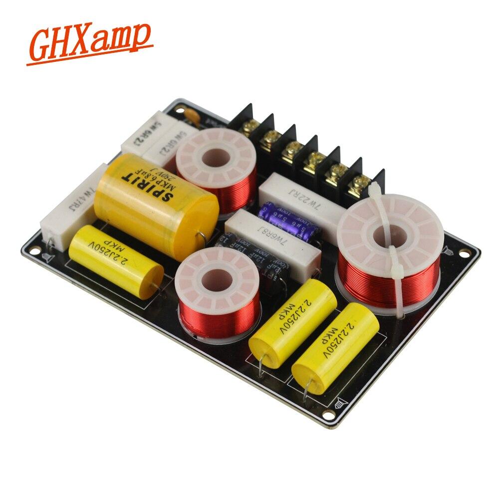 GHXAMP динамик, фильтр, Частотный разделитель, 2-полосный кроссовер, профессиональный Высокочастотный динамик, сабвуфер, кроссовер, звуковая плата 150 Вт, 1 шт.