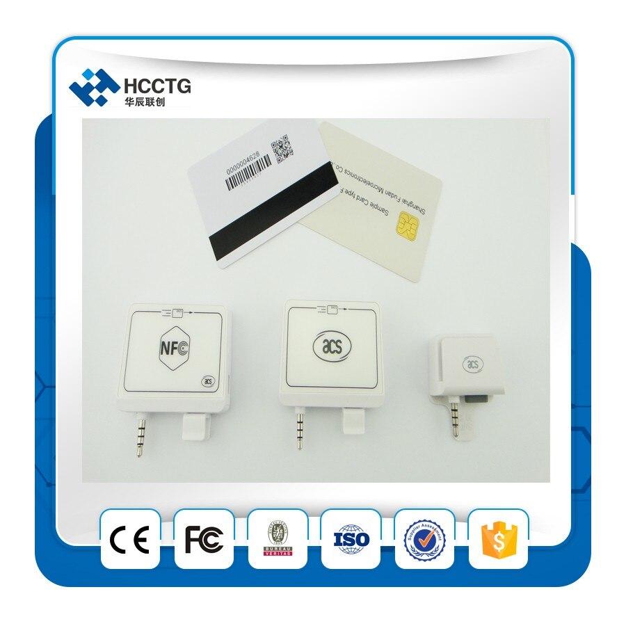 Móvil 3,5mm audio jack lector de tarjeta inteligente nfc -- ACR31