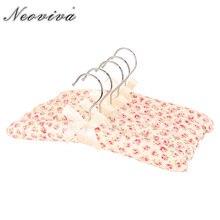 Neoviva-cintres en tissu pour filles   Lot de 5, avec rembourrage doux, motif Floral, ailes dange rose, manteau mignon, Cabide Para Roupa