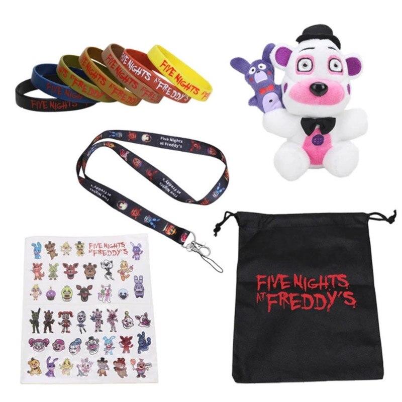 Fünf Nächte Im Freddy Schwester Lage Aufkleber Lanyard FNAF Plüsch Baby Ballora Ennard Funtime Freddy Foxy Plüsch Puppe Spielzeug