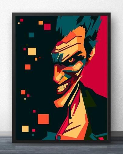 21081 Joker Pop Art-Kits de pintura por números para adultos DIY