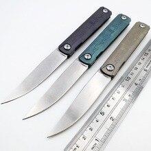 JSSQ S35VN lame couteau pliant titane poignée céramique roulement à billes couteaux de poche en plein air survie couteau de chasse outils de Camping