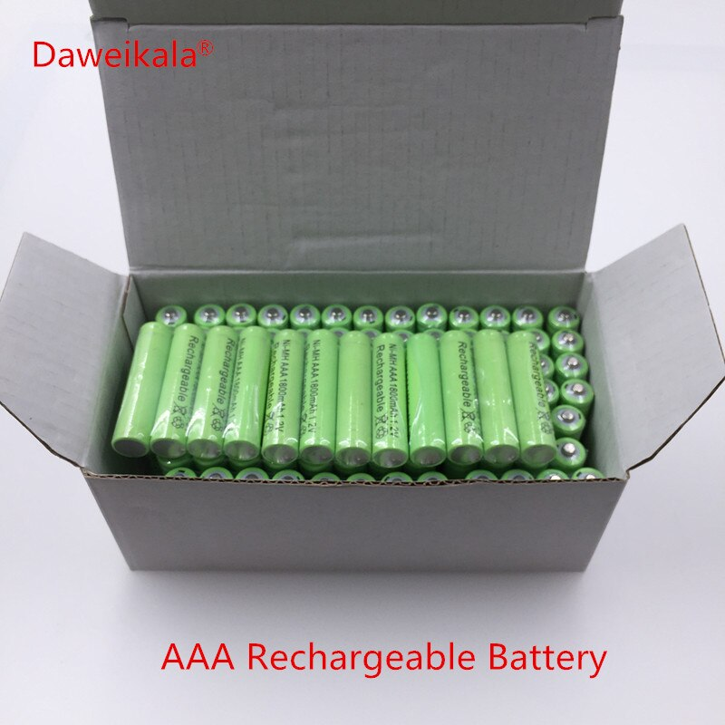 4/8/12/16/PCS lote Nueva 20 AAA 1800 mAh Ni-MH 1.2 V batera recargable AAA Ni-MH recargable batera batera para la cmara, jugue