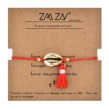 ZMZY Boho Tassel Handmade Rope Shell Bracelet Beads Charm Bracelet Women Jewelry Bohemian Gift Wholesale Accessories