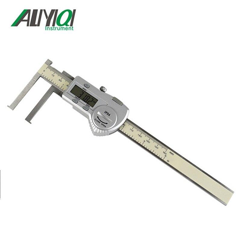 Calibrador de ranura digital interior de 13-200mm con borde de cuchillo con regla de trammel electrónico de punta plana