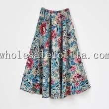 Mode belle impression hiver longue jupe robe de bal bohème Style jupe