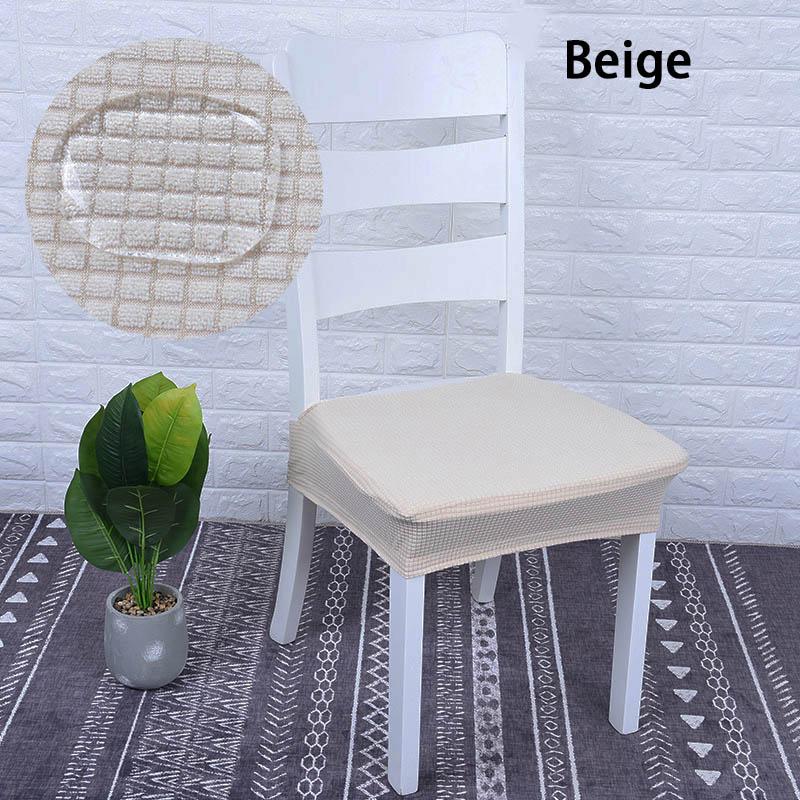 Funda protectora de silla de comedor a prueba de agua de Color sólido de LICRA elástica de poliéster