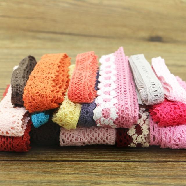 10 yard lot of color cotton lace garment sewing fabric decorative cotton crochet lace ribbon handmade jewelry Technology