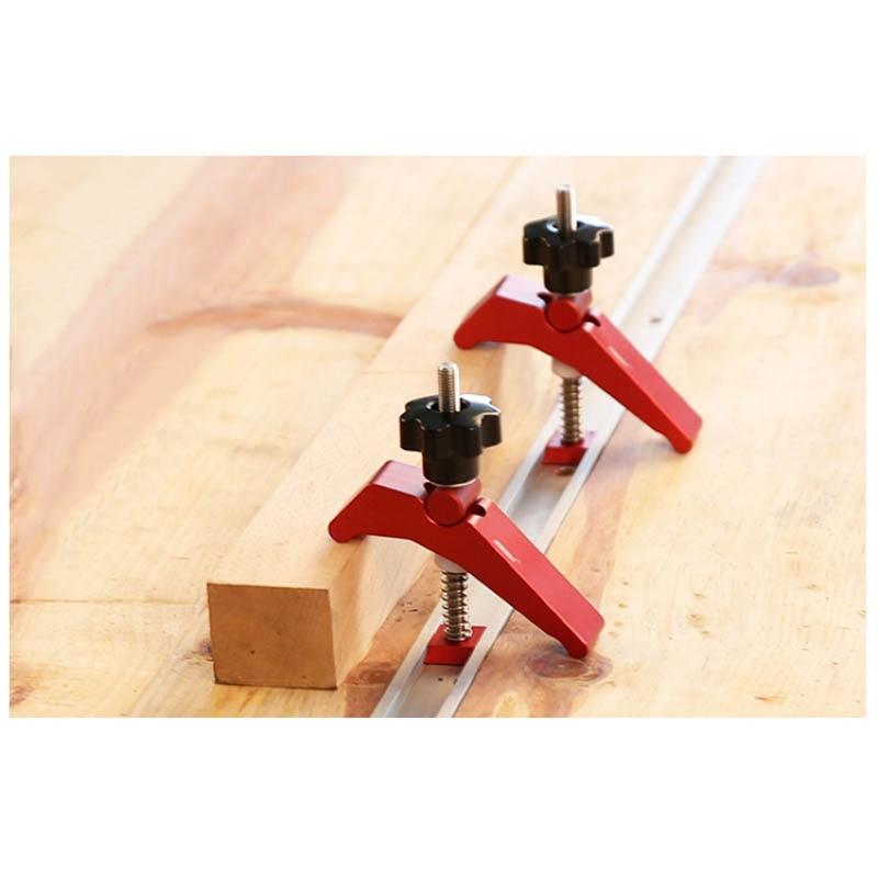 T-track universal platen mitra pista de aperto blocos de rampa grampos para trabalhar madeira