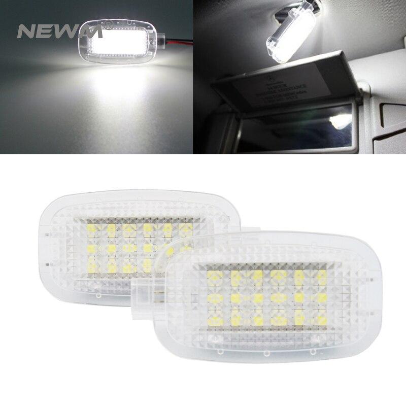 2X luces LED de sombra para puerta de coche, equipaje de cortesía para Mercedes/Benz W204 W216 W217 W221 R230 C197 W212 W169 Canbus